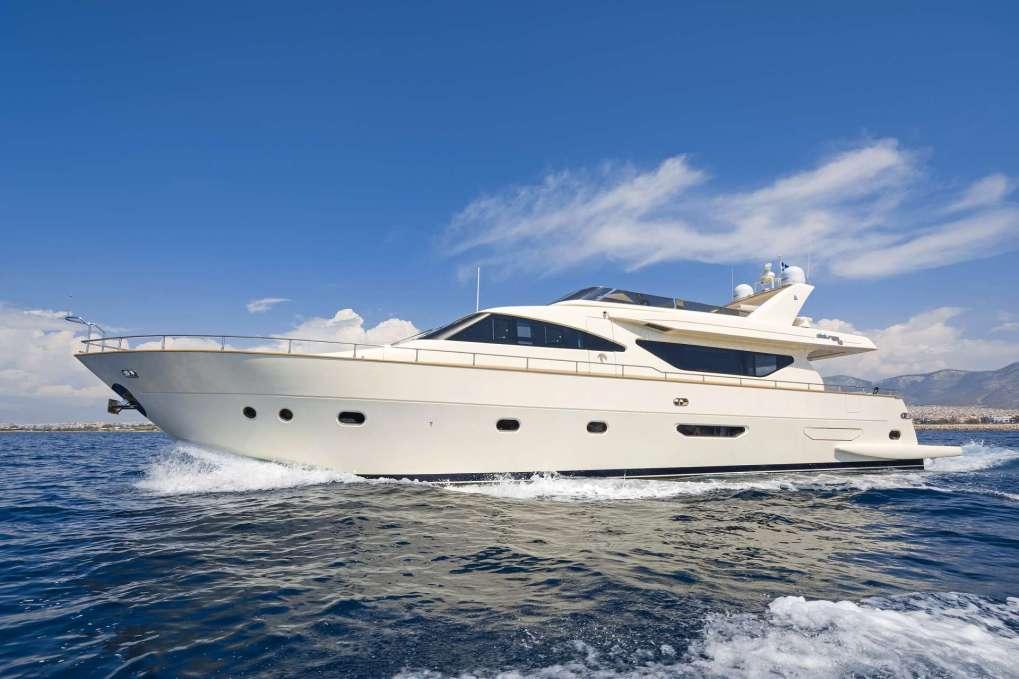 Main shot of motor yacht ALFEA from Athens.