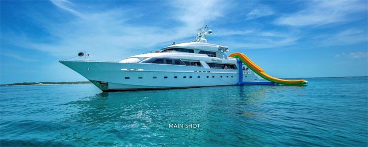 Main shot of 145 ft Cheoy Lee motor yacht ISLAND HEIRESS