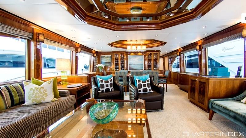 The main salon on 101ft Hargrave motor yacht CYNDERELLA