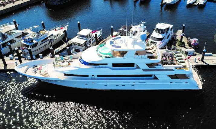 130ft Westport motor yacht ENDEAVOUR is available in the Caribbean and North America