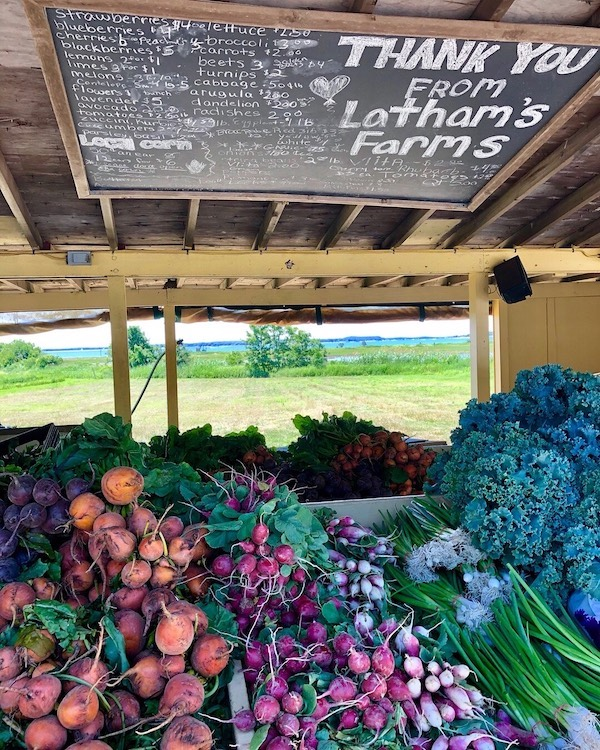 Vegetables at Latham's Farm Stand in The Hamptons ©SueGearan