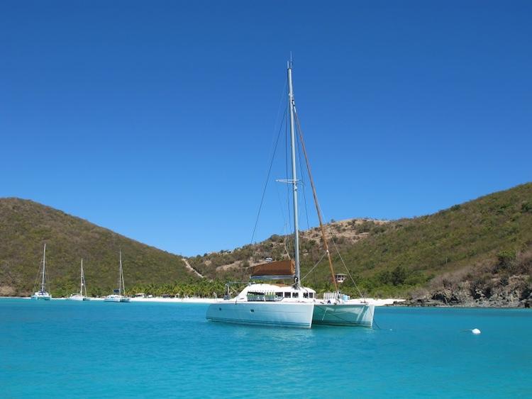 Mimbaw 42ft Lagoon sailing yacht catamaran in the Caribbean