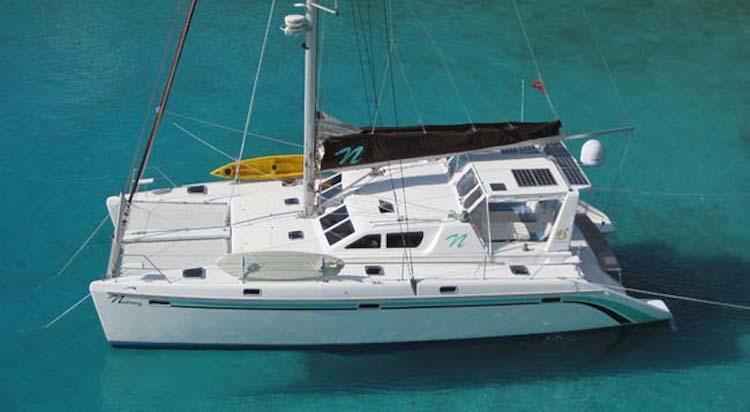Nutmeg 50ft St Francis sailing yacht catamaran in the Caribbean
