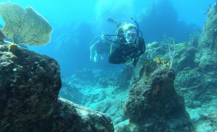 Guest Scuba Diving near Sea Fan off the S-Y LOLALITA with CaptGio