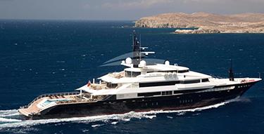 269ft Oceanco superyacht ALFA NERO underway