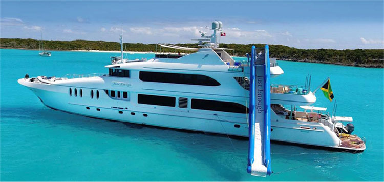 141ft Ares Marine motor yacht JUST ENOUGH operates in the Caribbean and the Bahamas