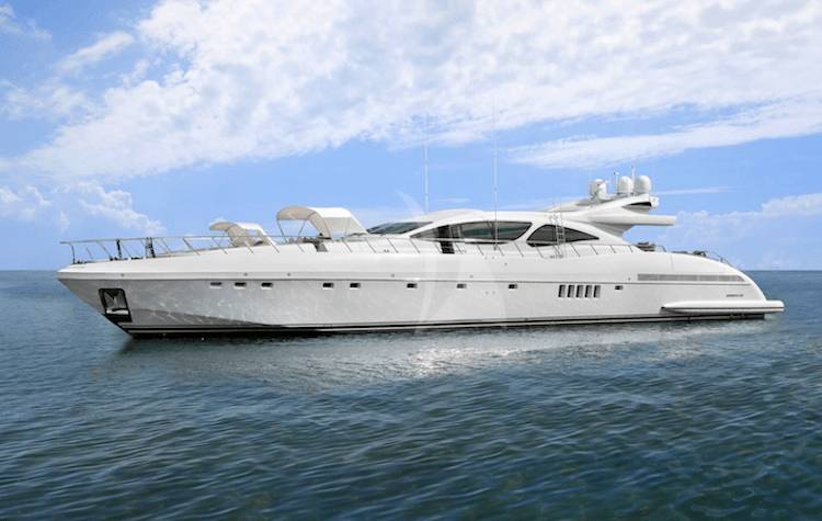 129ft Mangusta motor yacht INCOGNITO operates in the Caribbean