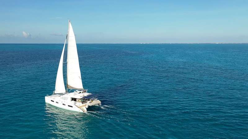 46ft Leopard catamaran THE SPACE BETWEEN operates in Florida and the Bahamas