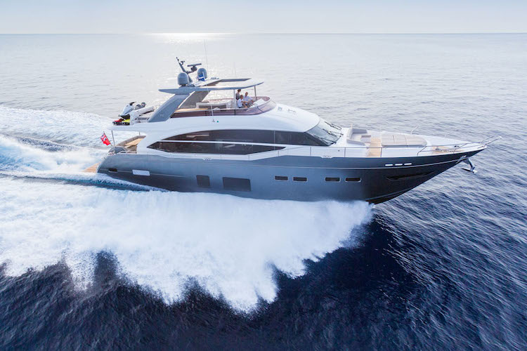 81ft Princess motor yacht LEMON NOT LIME operates in the West Mediterranean