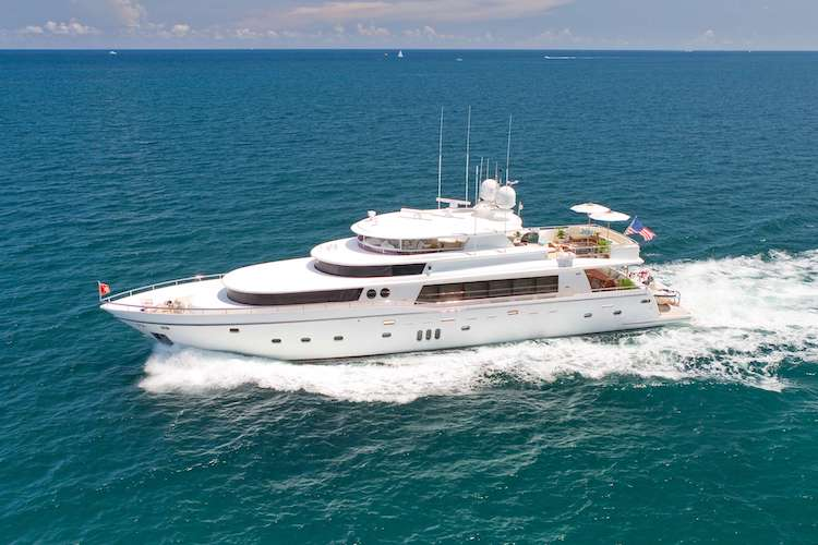 130ft Johnson motor yacht LORAX operates in the Caribbean and New England