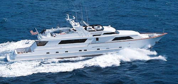 110ft Broward motor yacht PANACHE operates in and out San Jose del Cabo, Mexico