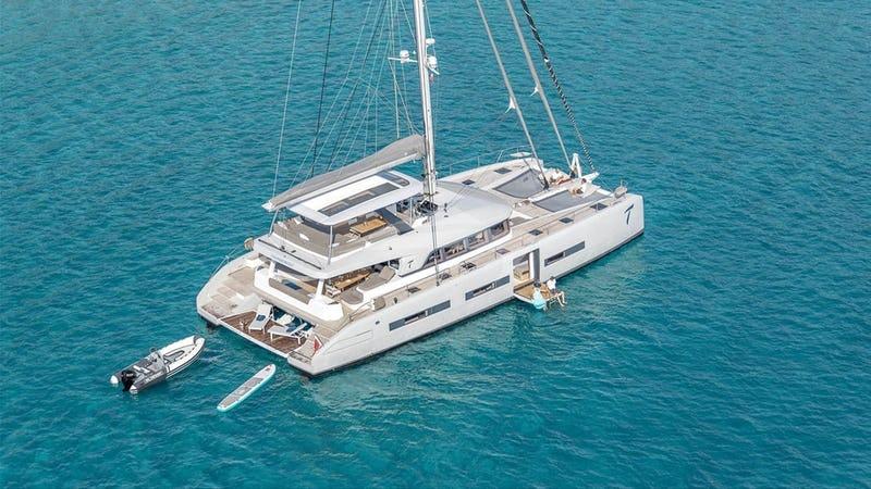 76ft Lagoon catamaran THUNDERBOLT operates in the Caribbean