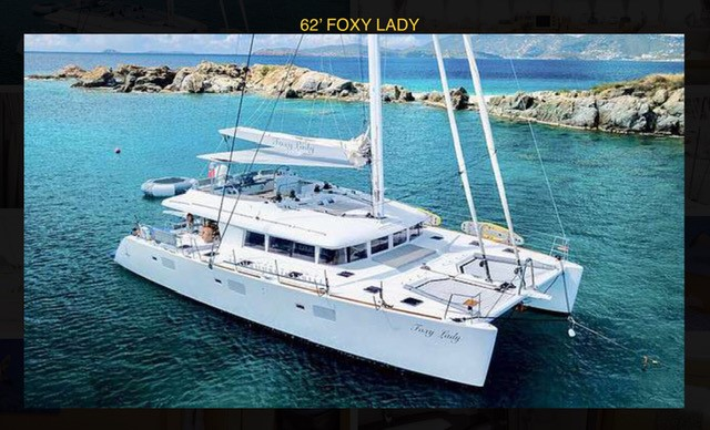 62ft Lagoon catamaran FOXY LADY in the British Virgin Islands