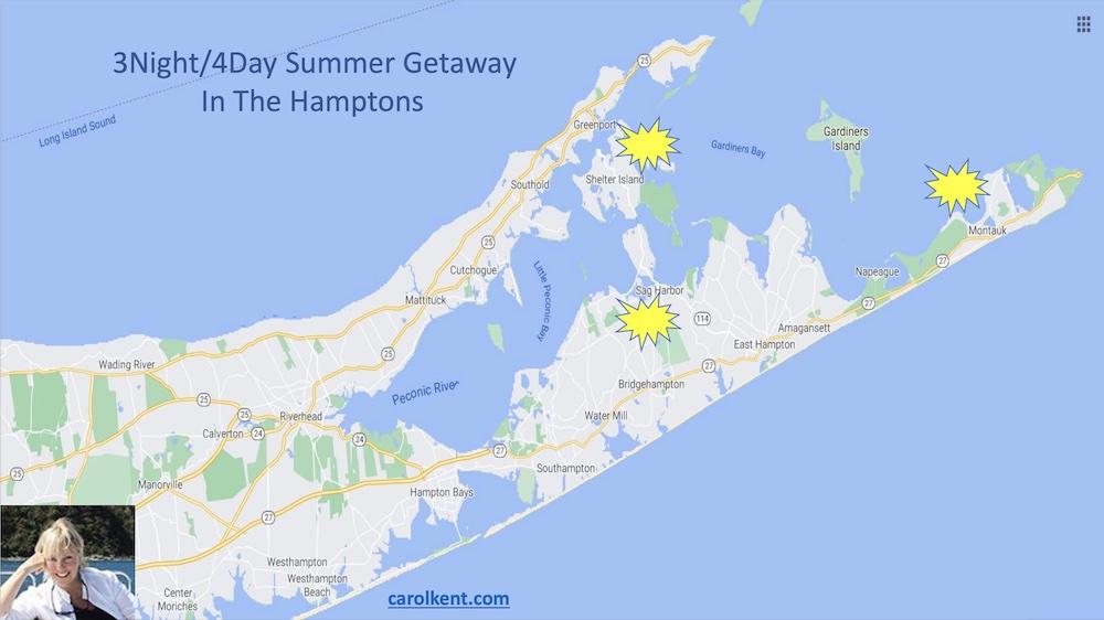 Map of sailing catamaran PARADIGM SHIFT's 4-day getaway in Sag Harbor and The Hamptons NY