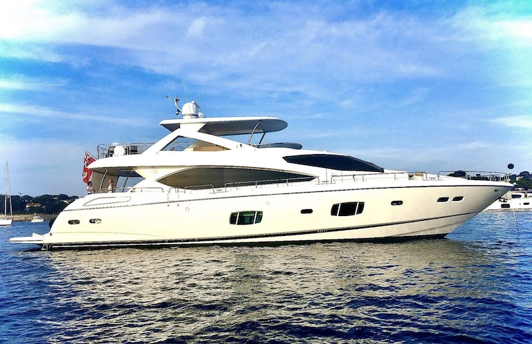88ft Sunseeker motor yacht SPLASHED OUT operates in Florida, the Bahamas and New England