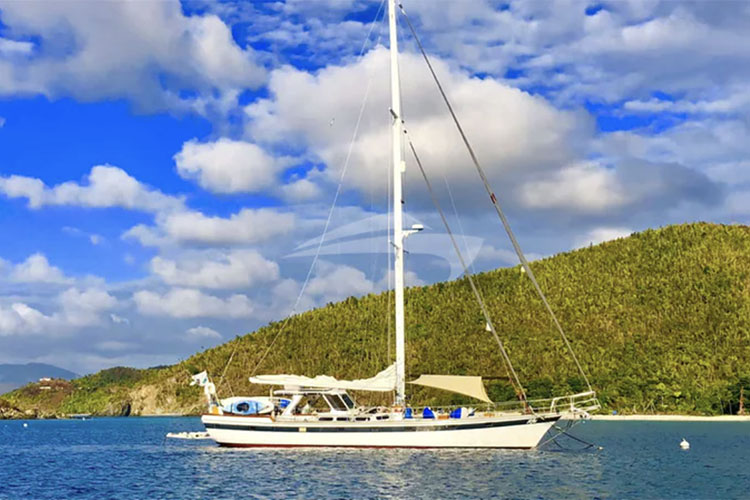 70ft Welington sailing yacht KAI operates in the Caribbean and New England