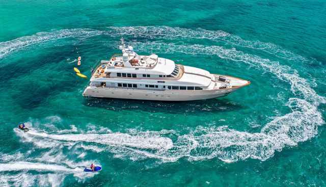 131ft Trident motor yacht JUST SAYIN' operates in Florida, Bahamas and New England