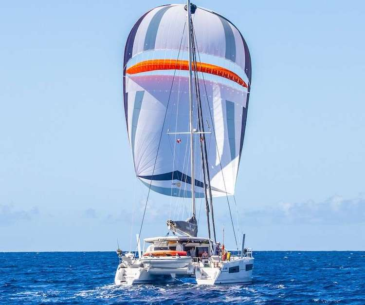 47ft Catana sailing catamaran TRIDENT TIDES operates in the Caribbean and New England