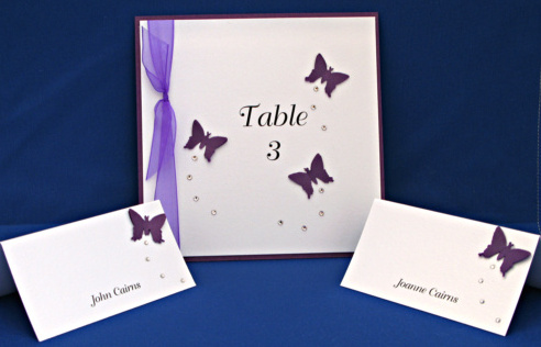Personalised Wedding Stationery  Purple Theme  Carol