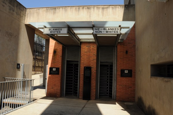 A grim reminder of the past at the Apartheid Museum.