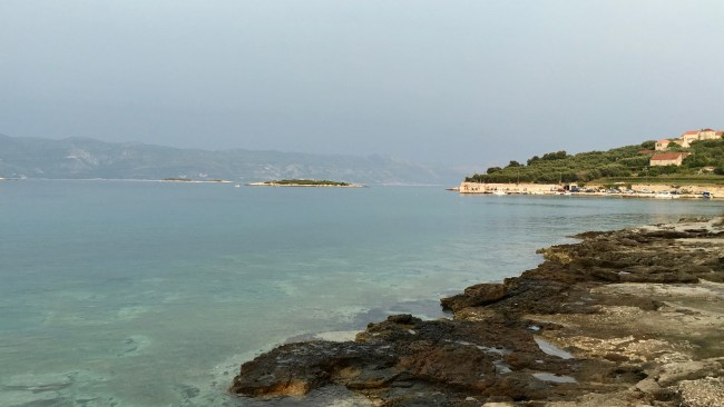 Korčula has a beautiful old town, but also has some quiet inlets and beautiful clear sea.