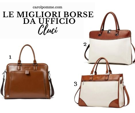 Eleganti e classiche le borse per ufficio proposte da Cluci.