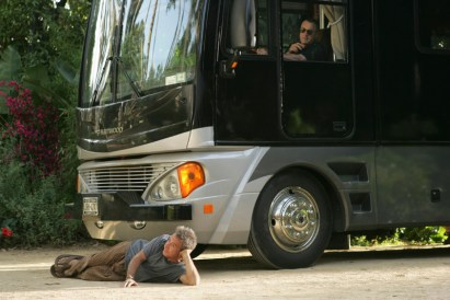 17_Bernie under bus wheels