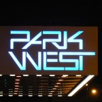 stylized logo of Park West