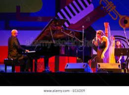 photo of Carol Robbins in concert with Billy Childs and Becca Stevens