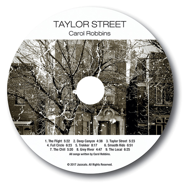 artwork label of Carol Robbins Taylor Street CD