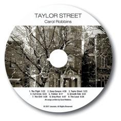 artwork label of Carol Robbins Taylor Street CD