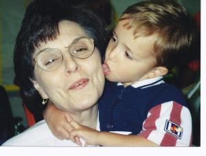 Jacob licking Mom's face