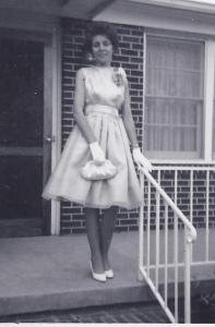 Mama dressed for prom, 1964