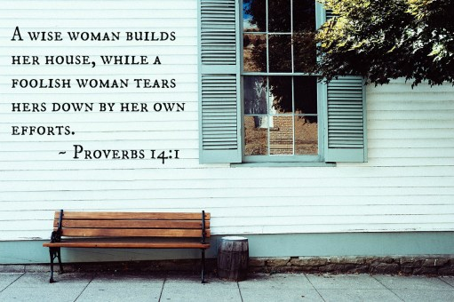 proverbs 14:1, wise woman, blueprints