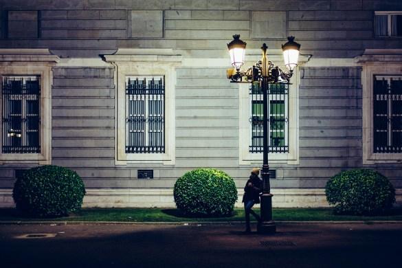 lantern on street