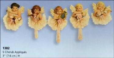 cherub appliques (5) S1382