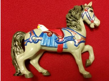 ALBERTA 1073 MB CAROUSEL HORSE WITH EAGLE SADDLE CC