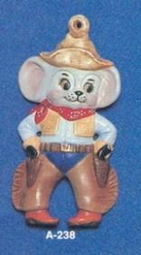 Alberta Ornaments 0238 cowboy mouse