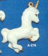 Alberta Ornaments 0278 unicorn wind chime
