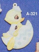 Alberta Ornaments 0321 duck in egg boat