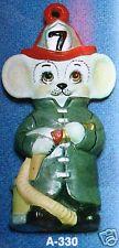 Alberta Ornaments 0330 fireman mouse