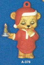Alberta Ornaments 0378 bear in nightshirt