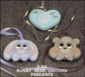dona 0304 bunny bear unicorn pendanta