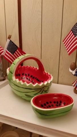 Ocean State 0107 & 0326 watermelon bowl & small bowl (CC)