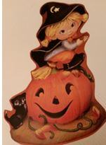 provincial 642 girl witch on pumpkin