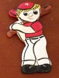 S-K 0478 corky baseball player (red & white)
