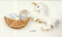 Alberta Ornaments 0428 magnets unicorn & mouse