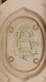 B&C 0373 Sailing Ship Plaque with Rope