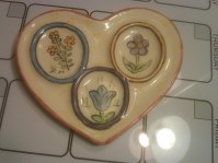 heart spoon rest with flowers