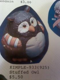 Kimple 0922 stuffes (soft) owl